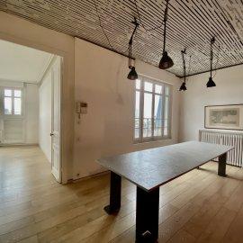 Loft Plateau de 130 m2 avec patio de 9 m2, dernier étage vue dégagée, Bordeaux Caudéran Wilson, Hôtel Particulier en pierre, à configurer